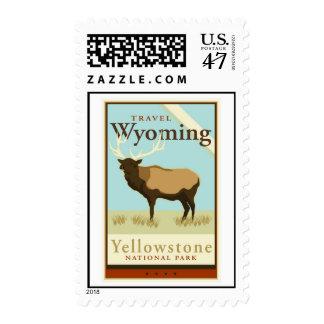 Viaje Wyoming Estampilla