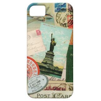viaje y sellos del funda-Vintage del iPhone 5 iPhone 5 Fundas