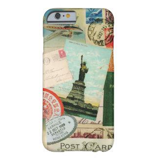 viaje y sellos del funda-Vintage del iPhone 6 Funda De iPhone 6 Barely There