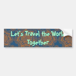 Viajemos el mundo junto pegatina para auto
