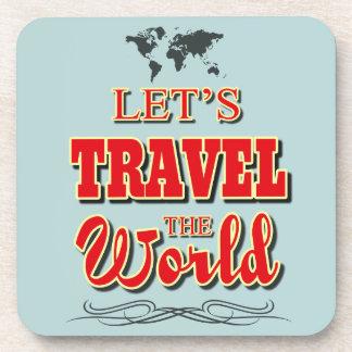 Viajemos el mundo posavasos