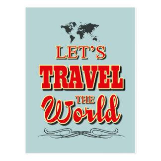 Viajemos el mundo postales