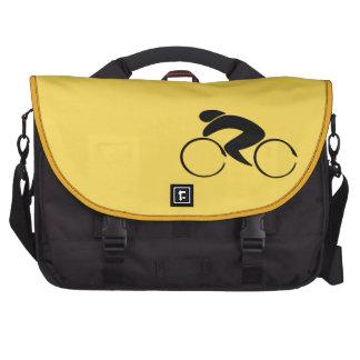 Viajero de ciclo del jersey amarillo bolsas para portatil