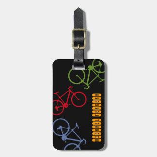 viajero de la bici etiqueta para maleta