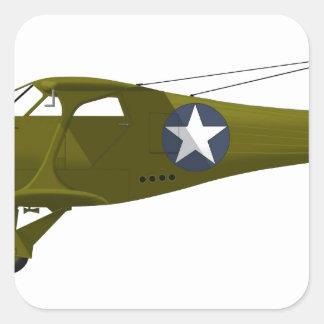 Viajero de la haya C-43 Pegatina Cuadrada