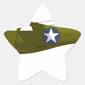 Viajero de la haya C-43 Pegatina En Forma De Estrella