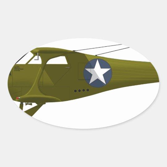Viajero de la haya C-43 Pegatina Ovalada