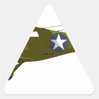 Viajero de la haya C-43 Pegatina Triangular