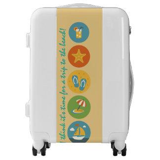 Viajero de la playa, equipaje de encargo