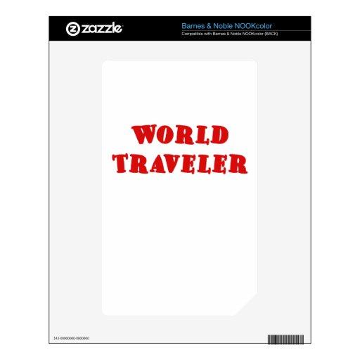 Viajero de mundo calcomanías para NOOK color