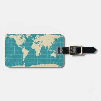 Viajero de mundo etiquetas maleta
