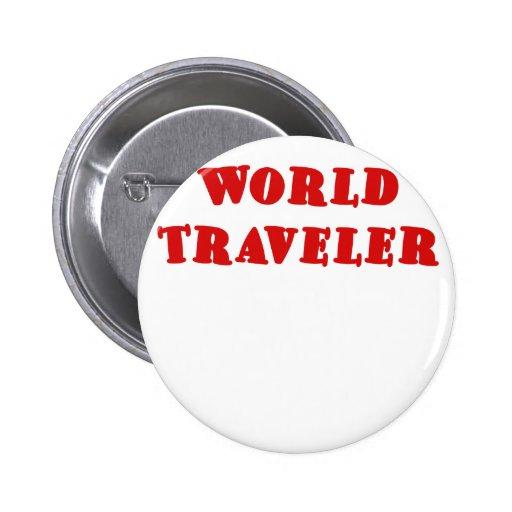 Viajero de mundo pin