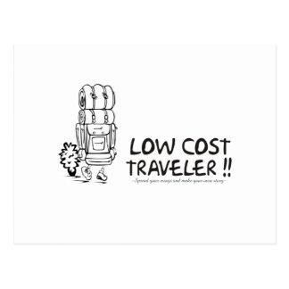 Viajero del bajo costo postales