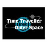 Viajero del tiempo del espacio exterior postal