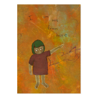 Viajero del visitante que es diverso arte único plantilla de tarjeta personal