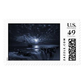 Viajero final de la frontera sellos postales