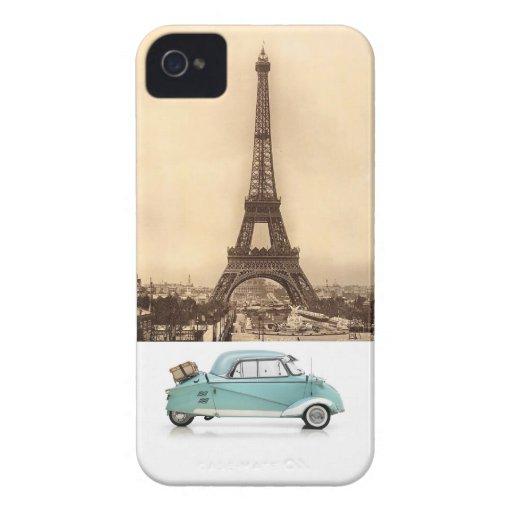 Viajero francés iPhone 4 Case-Mate carcasas