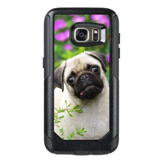 Viajero-Funda color de gamuza lindo del perro de Funda Otterbox Para Samsung Galaxy S7