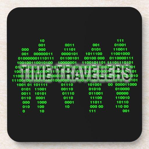 Viajeros del tiempo - código binario posavasos