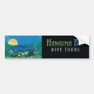 Viajes de la zambullida de la bahía de Hanauma Pegatina Para Auto