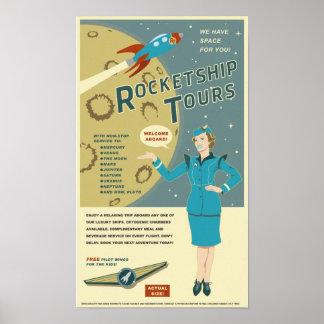 Viajes de Rocketship Poster