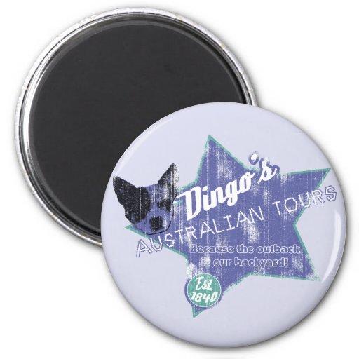 Viajes del australiano del Dingo Imán Redondo 5 Cm
