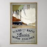 Viajes del baño en autocares de Bristol Posters