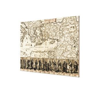 Viajes del mapa de PaulPanoramic del apóstol Lona Estirada Galerias