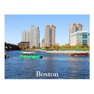 Viajes del pato de Boston Tarjeta Postal