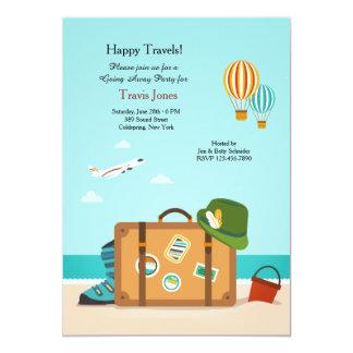 Viajes felices que van lejos invitación del fiesta