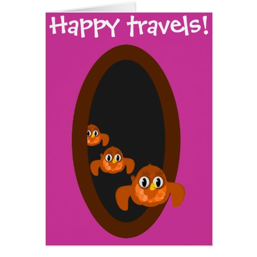 Viajes felices que van lejos tarjeta