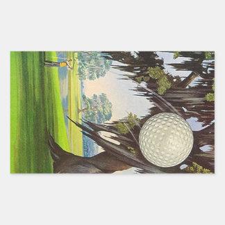 Viajes Golfing del viaje de los pegatinas del golf Rectangular Pegatinas
