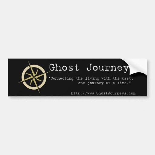 Viajes oficiales del fantasma etiqueta de parachoque