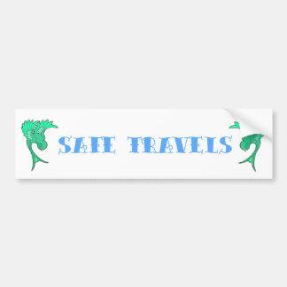Viajes seguros pegatina para auto