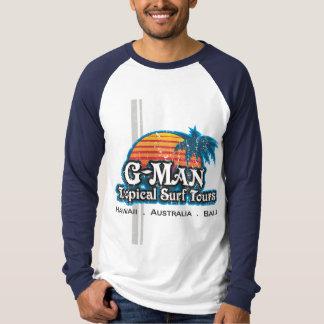 Viajes tropicales de la resaca del G-Man Playera