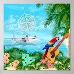 Viajes tropicales póster