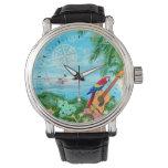 Viajes tropicales reloj de mano