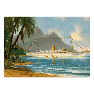 Viajes tropicales tarjetas de visita grandes