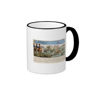 Viajes y hazañas de general Bonaparte 1798 Taza De Dos Colores