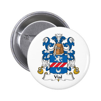 Vial Family Crest Pinback Buttons