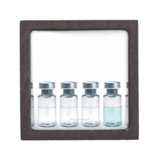 Vials containing medicine for injections. This Premium Keepsake Box
