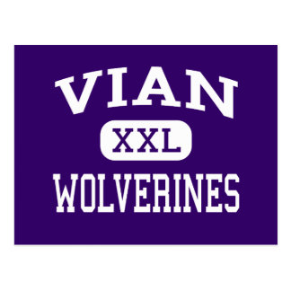 Vian - Wolverines - High School - Vian Oklahoma Postcard