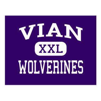 Vian - Wolverines - High School - Vian Oklahoma Postcard