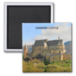 VIANDEN CASTLE, LUXEMBOURG 2 INCH SQUARE MAGNET