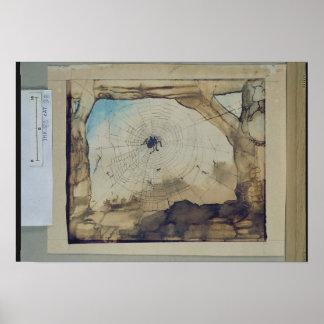 Vianden through a Spider's Web Print