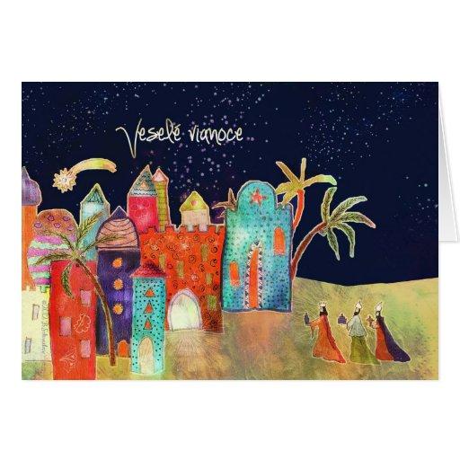 Vianoce de Veselé, Felices Navidad en eslovaco Tarjetas