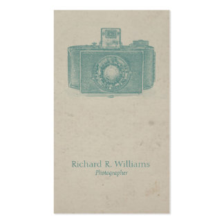 Viantage Camera Photographer Double-Sided Standard Business Cards (Pack Of 100)