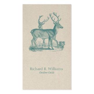 Viantage Deers with Antlers Business Card