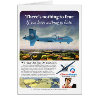 Vías aéreas de Obama Tarjeta De Felicitación