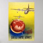 Vías aéreas del imperio de Qantas Poster